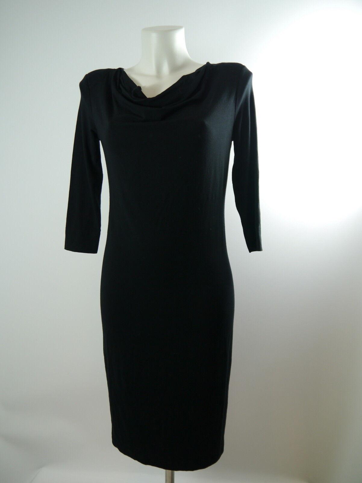 InWear Da.Stretch Kleid Viscose  Wasserfallkragen schwarz Gr.S NP109 - WIE NEU