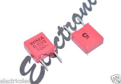 WIMA MKP10 0.33uF 4pcs 0,33µF 330nF 250V 5/% pitch:15mm Capacitor