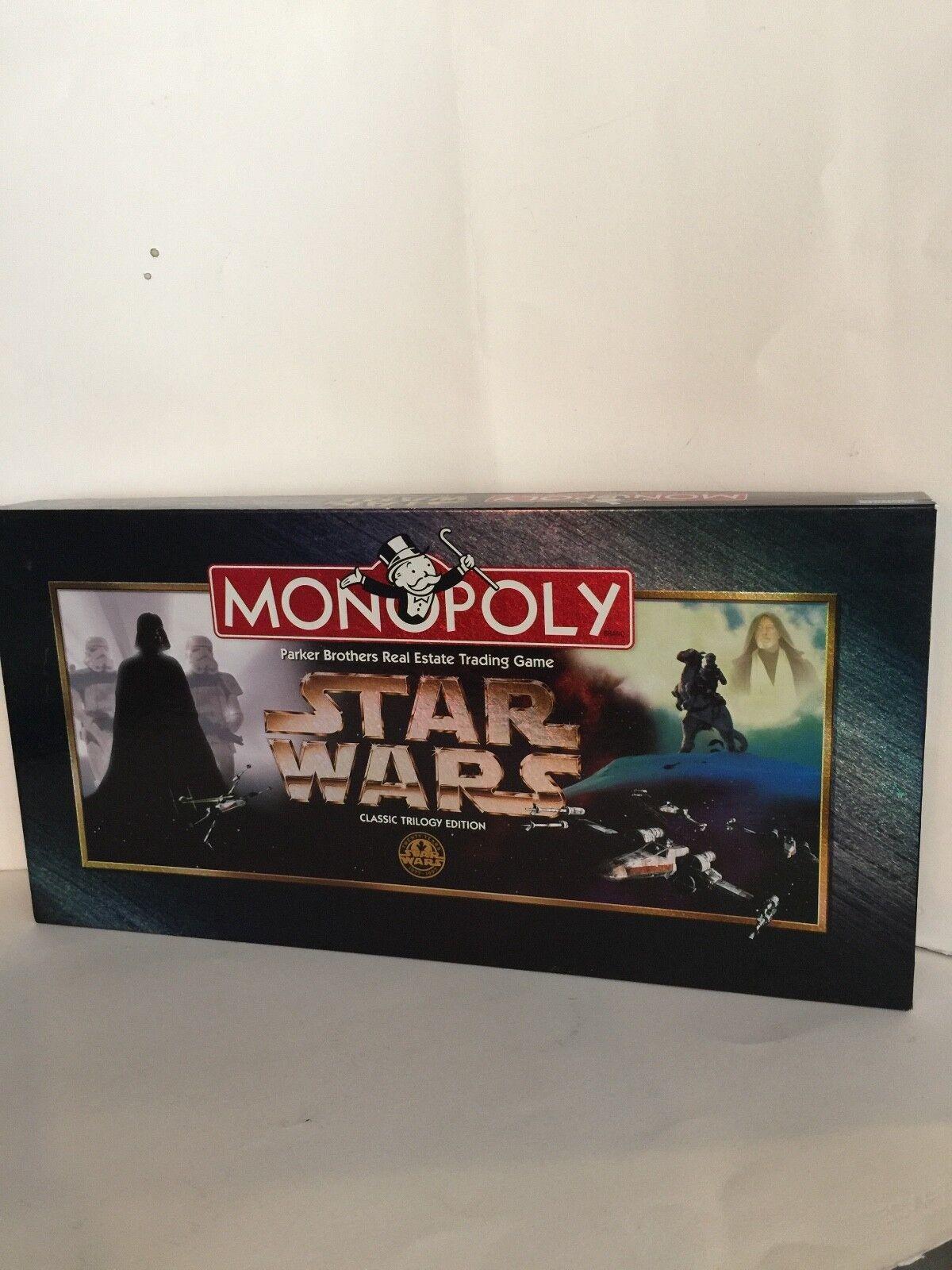 Monopolio clásica trilogía de la guerra de las Galaxias Edición 97, Parker Bros, nunca jugado.
