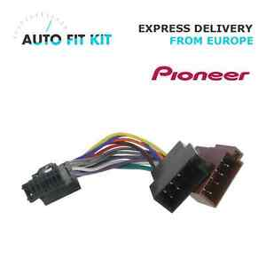 pioneer 16 pin iso wiring harness loom adaptor wire radio connector rh ebay com iso wiring harness colors iso wiring harness connector/adaptor for pioneer 16 pin