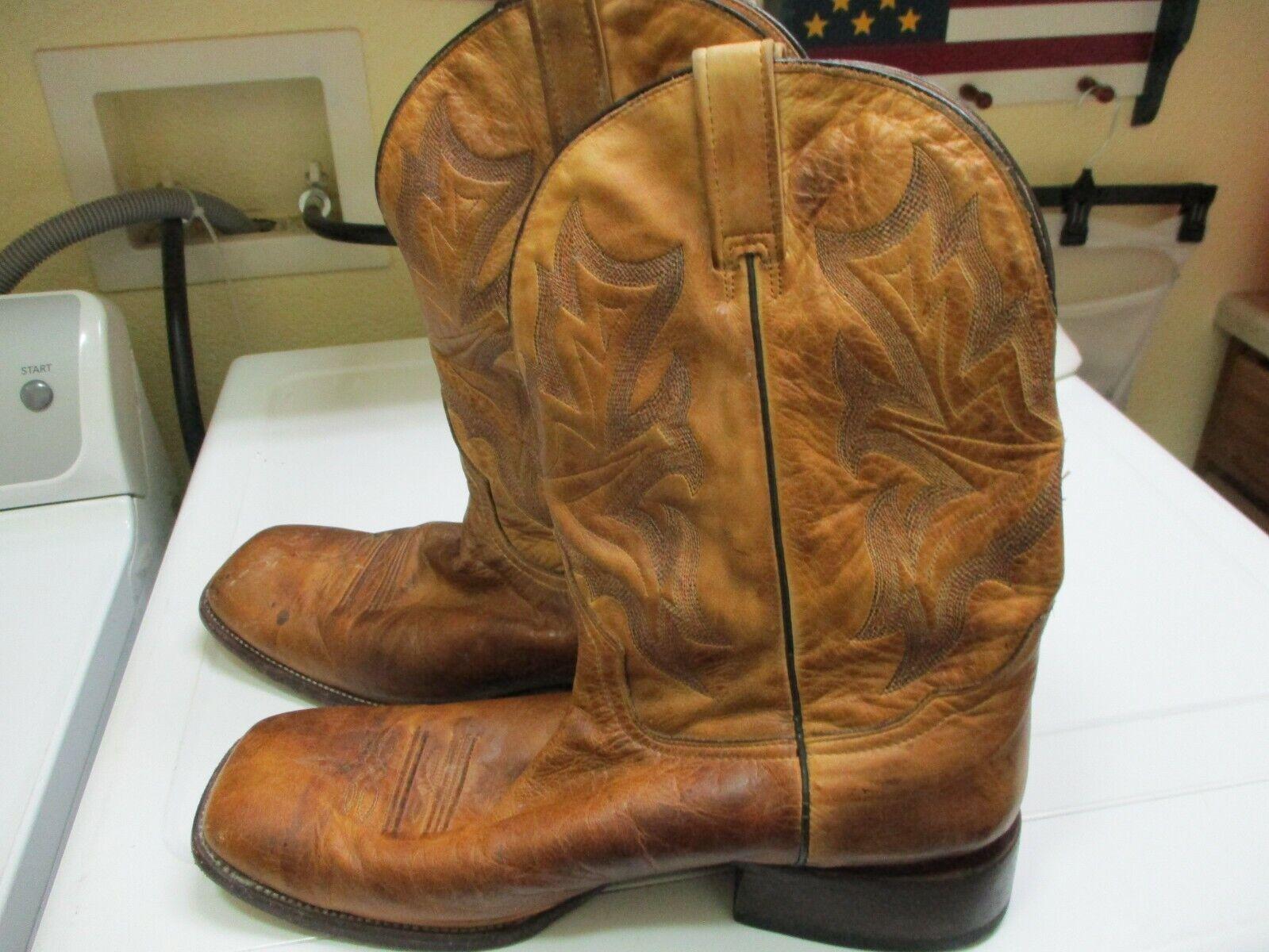 herren VINTAGE JOHN B STETSON SQUARE TOE  ROPER  Stiefel Größe 14 D