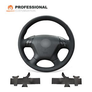 MEWANT Black Genuine Leather Car Steering Wheel Cover Honda Accord 7 2003-2007