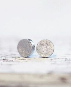 Damen-Ohrstecker-Ohrringe-Rund-Circle-Kreis-Dot-Round-Silber-Filigran-Minimal
