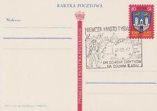Poland postmark NIEMCZA - knight sword horse castle