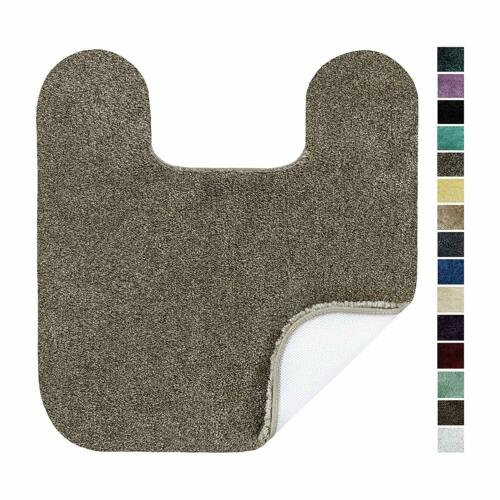 Maples Rugs Colorsoft Non Slip Washable  Quick Dry Elongated Toilet Seat Lid Co