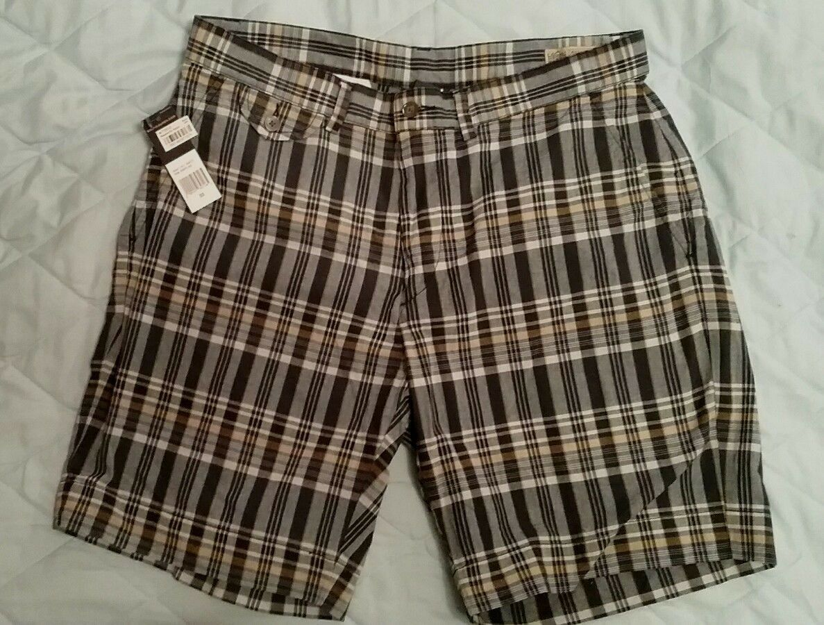 New POLO RALPH LAUREN India Madras bluee Shorts Plaid W 33 Inseam 8