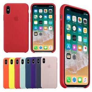Original-Silicone-Leather-Case-For-iPhone-X-XS-Max-6-7-8-Plus-Genuine-OEM-Cover