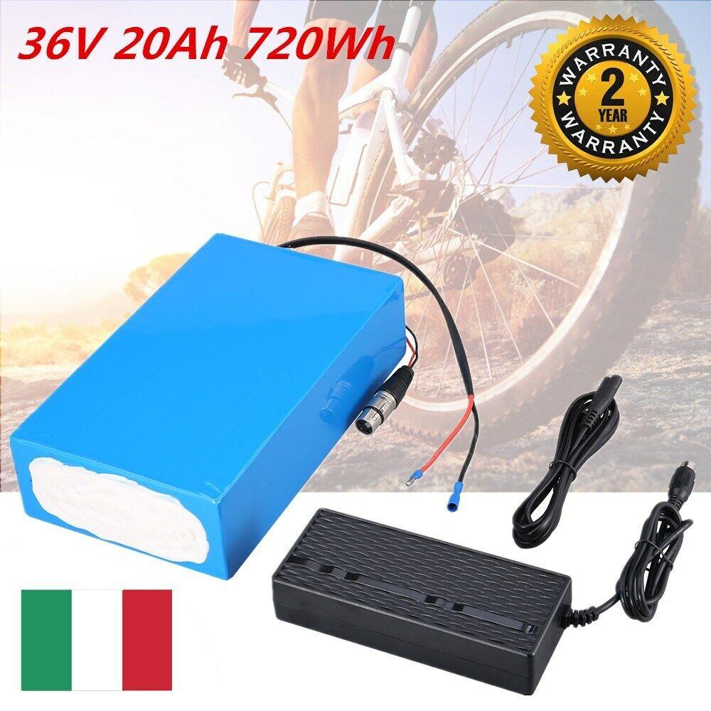 EBike 36V 20Ah Batteria Liion per Bici Bicicletta Elettrica autoicabatterie 2A