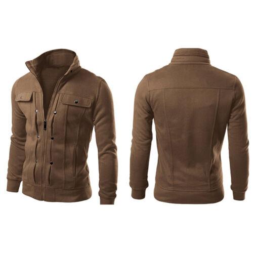 Men Winter Warm Slim Sweater Cardigan Long Sleeve Jumper Zip Coat Jacket Outwear