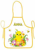 Tablier De Cuisine Enfant Joyeuses Pâques Personnalisable Avec Prénom Réf 43