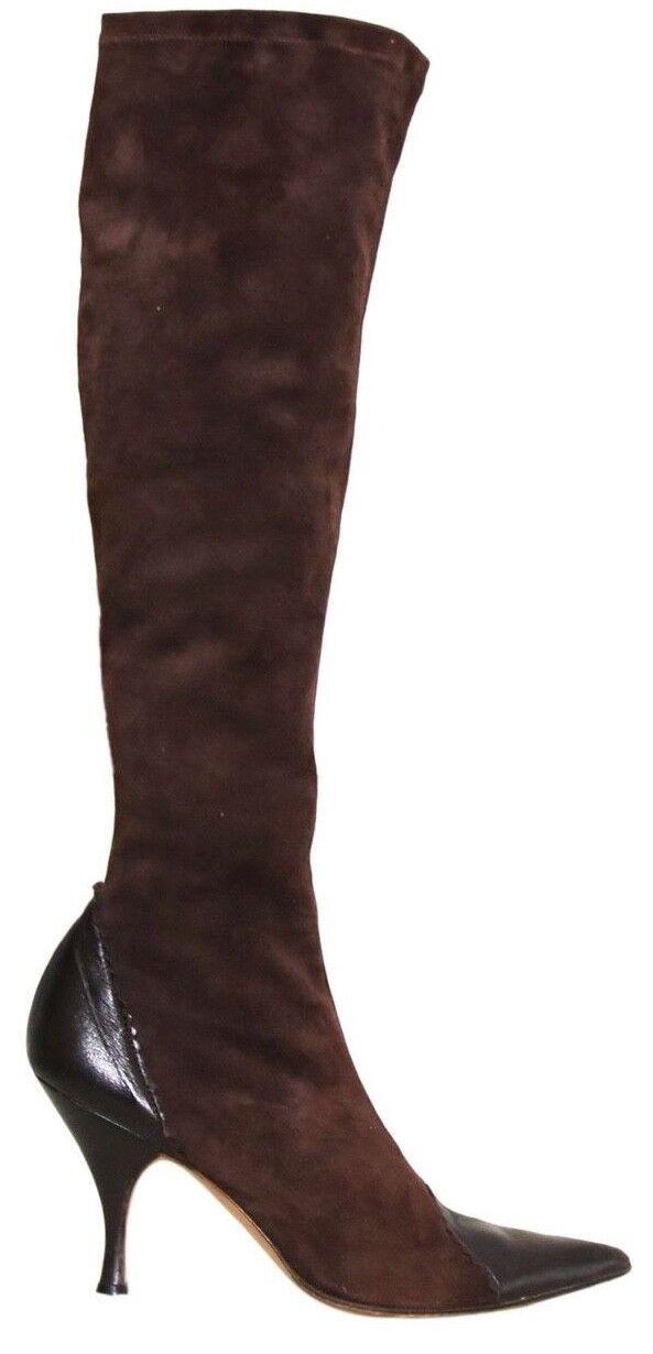 primera vez respuesta Christian Dior señaló botas botas botas De Gamuza Marrón (tamaño 36.5)  bienvenido a comprar