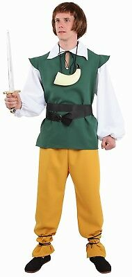 Déguisement Homme PAYSAN Médiéval Marron M//L costume moyen age NEUF Pas cher