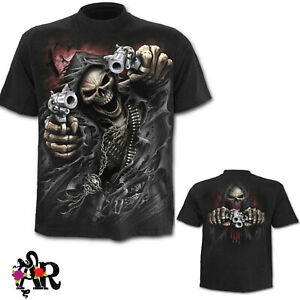 MENS-BLACK-SPIRAL-DIRECT-ASSASIN-SHORT-SLEEVED-T-SHIRT-BIKER-GOTH