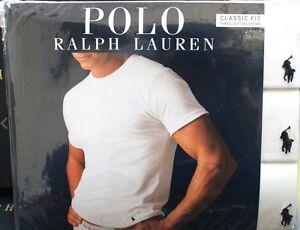 Polo Ralph Lauren Classic Fit 3 Pack Cotton Crew Neck T Shirt White