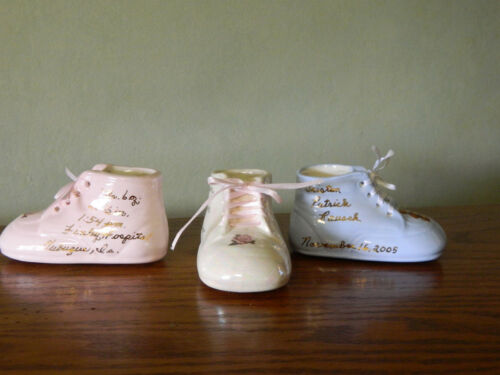 Personalized Ceramic High Top Baby Shoe Gift