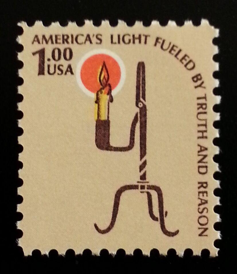 1979 $1 Americana Issue, Rush Lamp Scott 1610 Mint F/VF