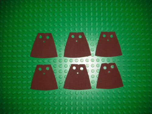 6 custom made to fit Lego minifig cape Darth Vader maul  Grevious Yoda brown