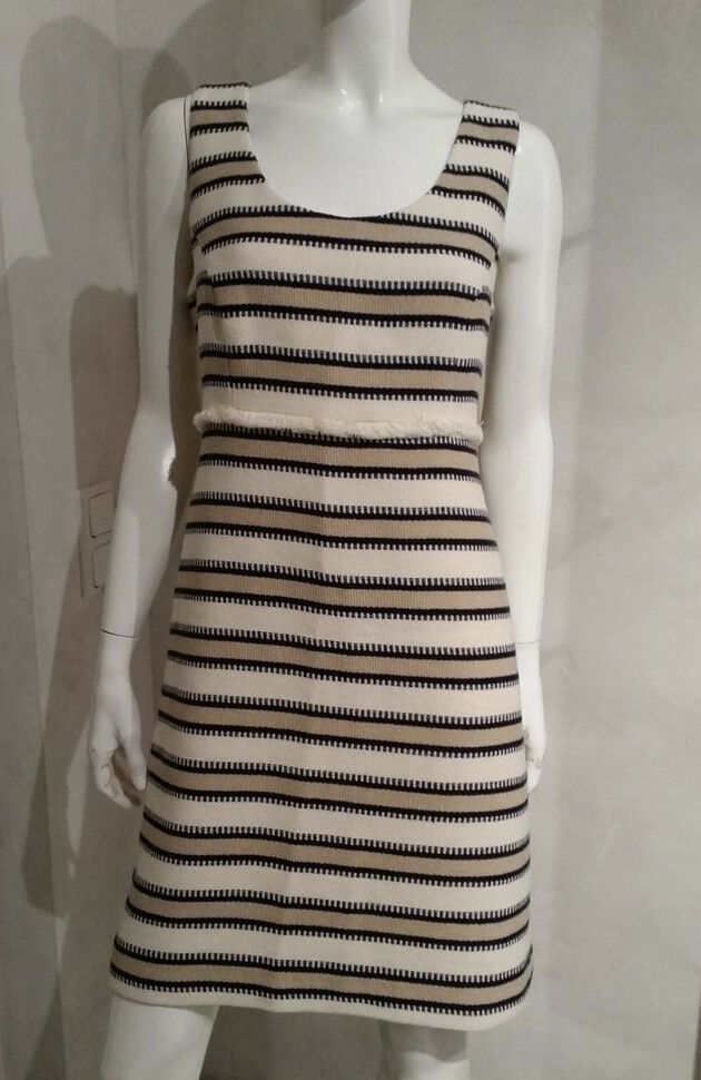HALLHUBER Kleid Etuikleid indigo gestreift Gr.38,40--UK10,12UVP Euro 119,90NEU