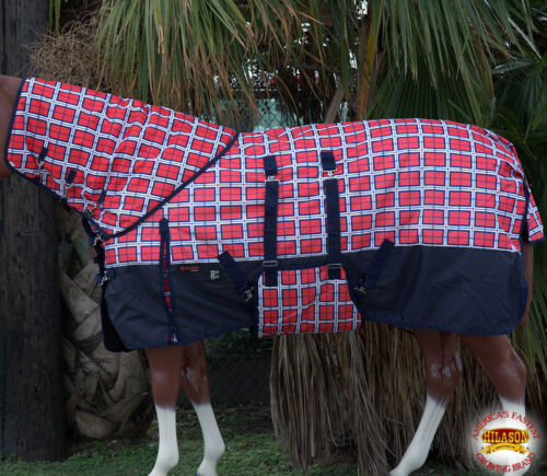 """84/"""" HILASON 1200D 400GSM WINTER HORSE BLANKET W// NECK COVER BELLY WRAP 66/"""""""