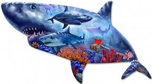 Shark-Shape-Plasma-Metal-Sign-Hand-Made-in-the-USA-with-American-Steel