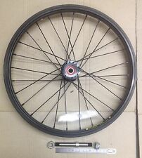 """Bike wheels,16"""" (349x22) Weinmann alloy rim and 28H alloy hub, 110x12mm axle"""