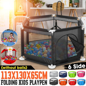 Baby Safety Playpen Play Yard Kid Activity Center Toddler Folding Indoor Outdoor