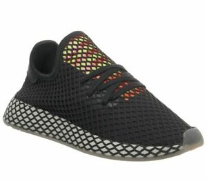 on feet at ever popular online store Details about Mens Adidas Deerupt Trainers Core Black Sesame Trainers Shoes