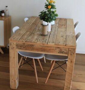 Tavolo in legno massello realizzato con recupero bancali 120x80 | eBay