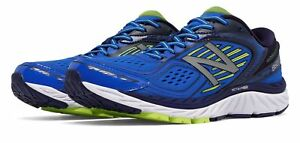 New-Balance-Men-039-s-860V7-Shoes-Blue-With-Yellow