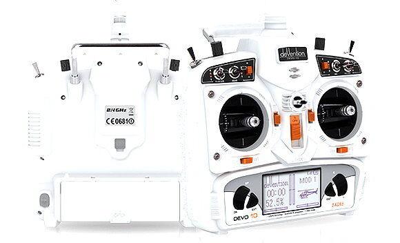 WALKERA DEVO Devention 10 2.4ghz 10ch bianca  trasmettitore & ricevitore m2 ts864