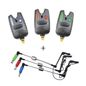 8-LED-Fishing-Bite-Alarm-Swingers-Indicator-For-Carp-Fish-Bait-Angling-Sounder