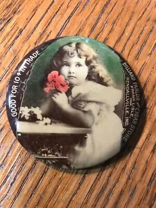 POCKET MIRROR GOOD FOR 10 CENTS IN TRADE BILLIARD PARLOR & CIGAR STORE INDIANA