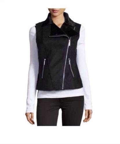 42c15e17caa Buy Michael Kors Black Faux Seal Vest Womens 18w Suede Cloth Plus Size  online