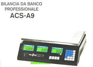 Dettagli Su Bilancia Da Banco Tekone Acs A9 Professionale Per Alimenti Display Peso 40kg Hsb