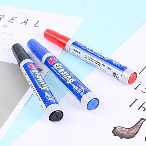 5pcs Marker felt marker pen black erasable Whiteboard for OfficeL E4H