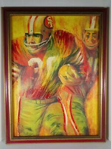 1960-039-s-Dave-Boss-NFL-San-Francisco-49ers-Similart-Painting-Football-Art