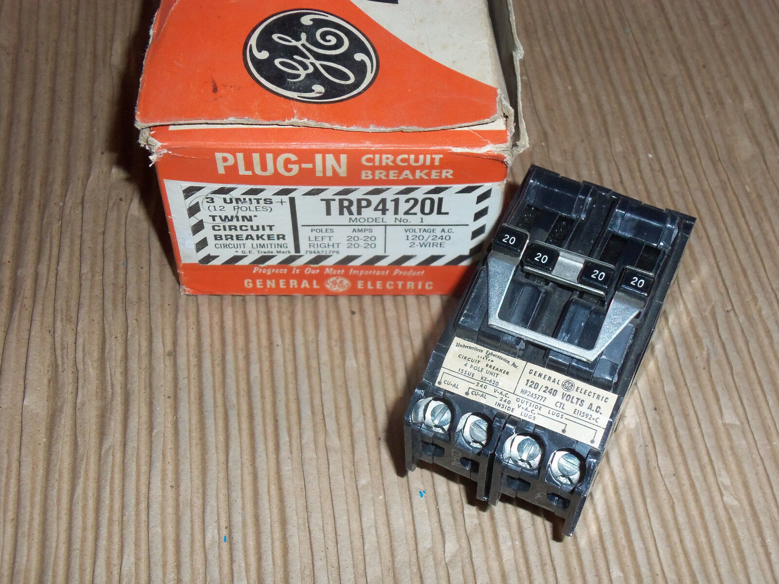 Ge Trp Trp4120l 2 Pole 20 Amp 240v Circuit Breaker Twin Plug In Arc Fault 15 120 240 Volt Ac 1pole Plugon Norton Secured Powered By Verisign