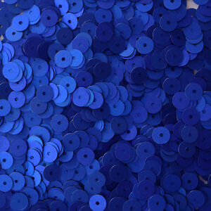 6mm Flat SEQUIN PAILLETTES ~ ROYAL BLUE Metallic ~ Round Disc ~ Made in USA