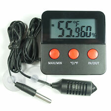 Digital Thermometer & Hygrometer Combined Gauge with remote probes Max/Min