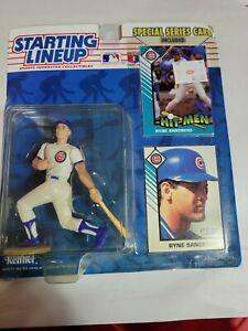 1993 STARTING LINEUP - MLB - RYNE SANDBERG - CHICAGO CUBS  Kenner 2 Cards