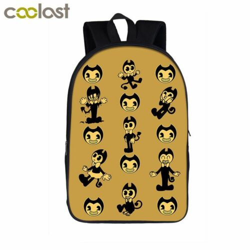 Bendy And The Ink Machine Kids Backpack School Bags Travel Laptop Rucksack Gifts