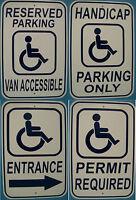 Handicap Reserved Parking 12x18 Aluminum Sign Safety Street Sign Handicap Park