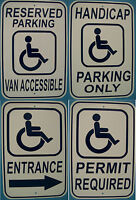 Handicap Reserved Parking 12x18 Aluminum Sign Safety Street Sign Handicap Park