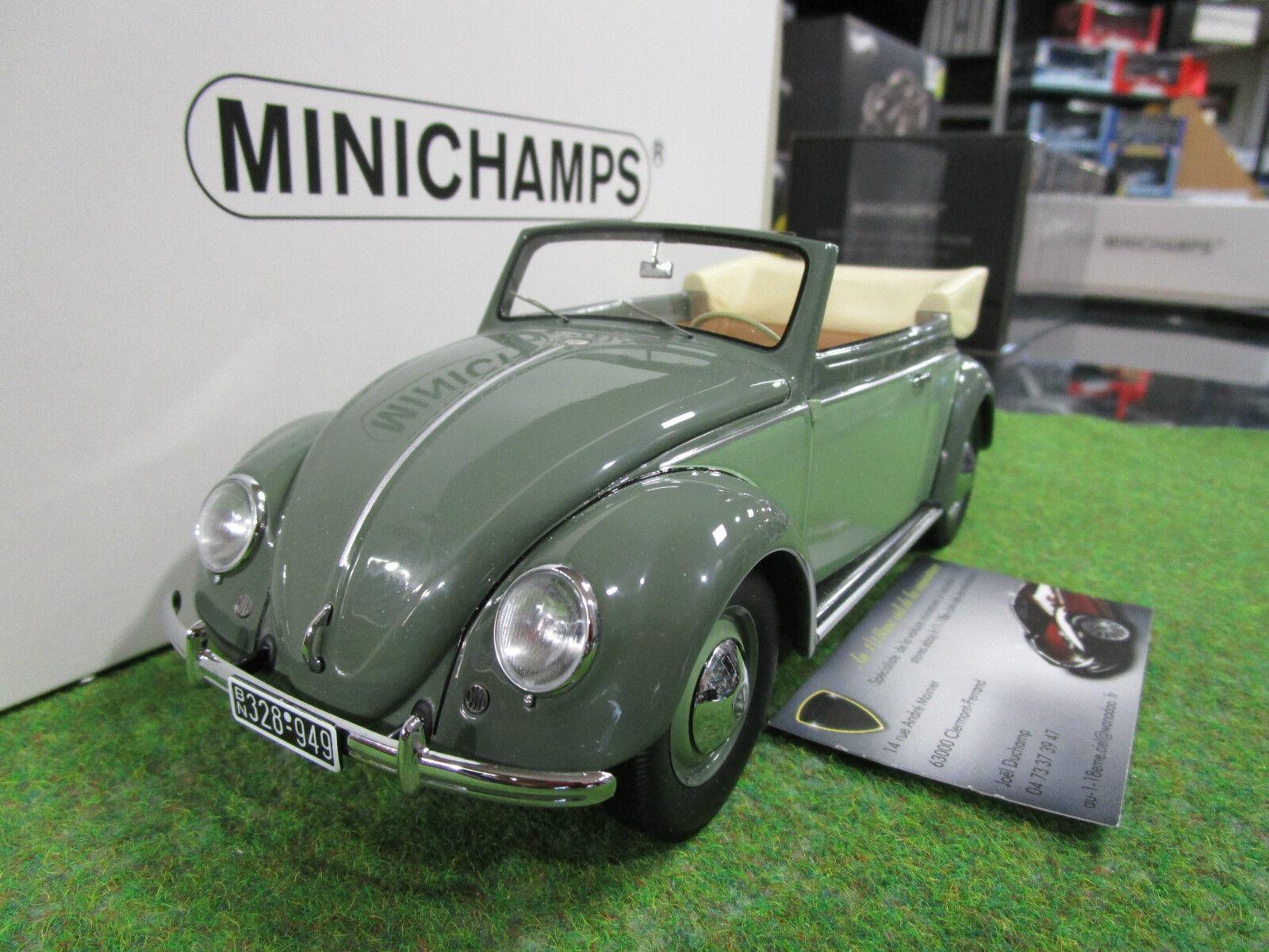 VOLKSWAGEN BEETLE de 1949 vert au 1 18 MINICHAMPS 107054130 voiture miniature