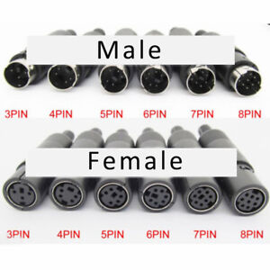 Mini-S-terminal-Plug-Socket-DIN-3P-4P-5P-6P-7P-8P-Signal-Power-Plug-Male-Female