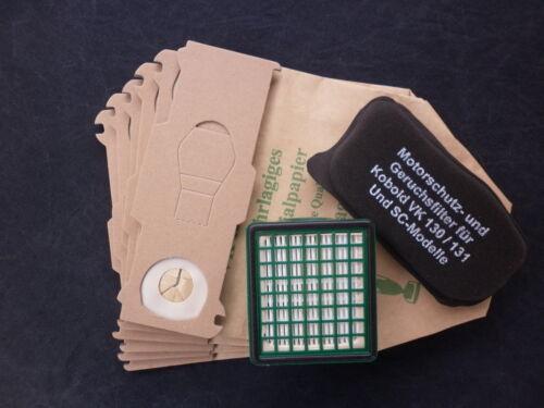 Filterset 16 Staubbeutel Tüten Papier geeignet Vorwerk Kobold 130 131