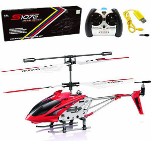 Cheerwing S107G 3 5CH Phantom Mini Metal Remote Control RC Helicopter GYRO Red