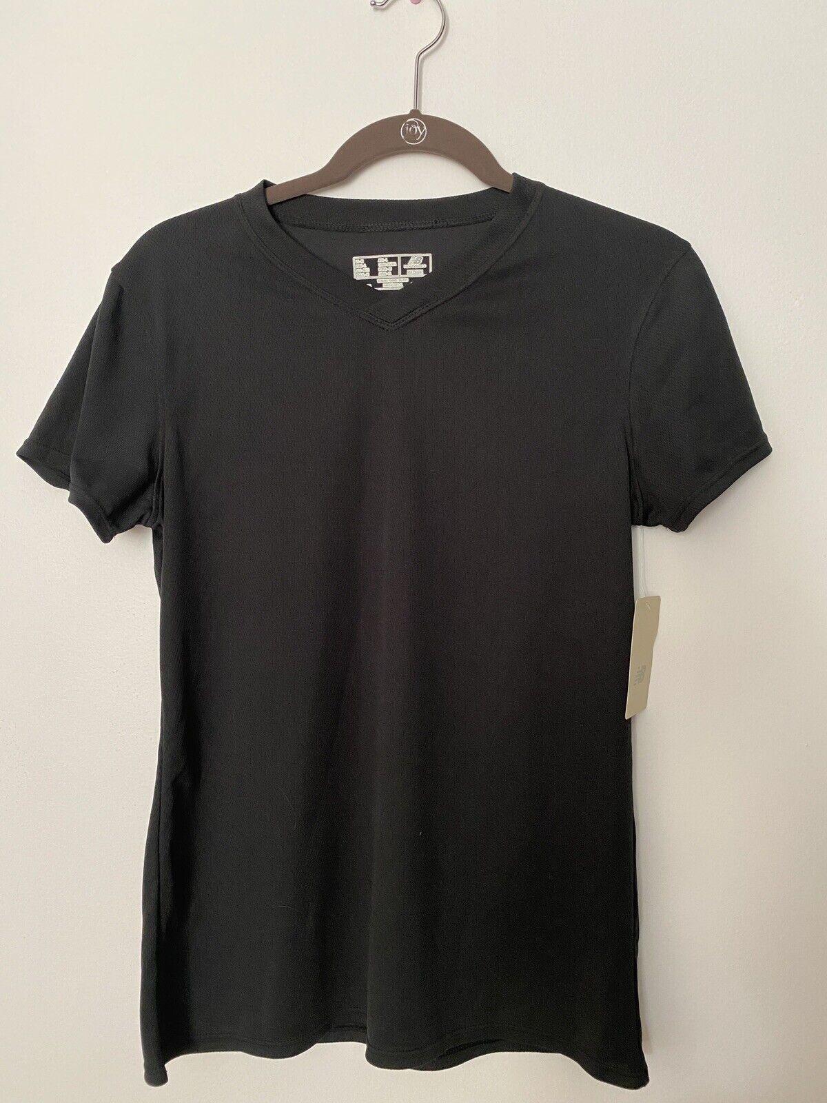 NEW BALANCE Short Sleeve Black Activewear Running Shirt Top Womens Medium