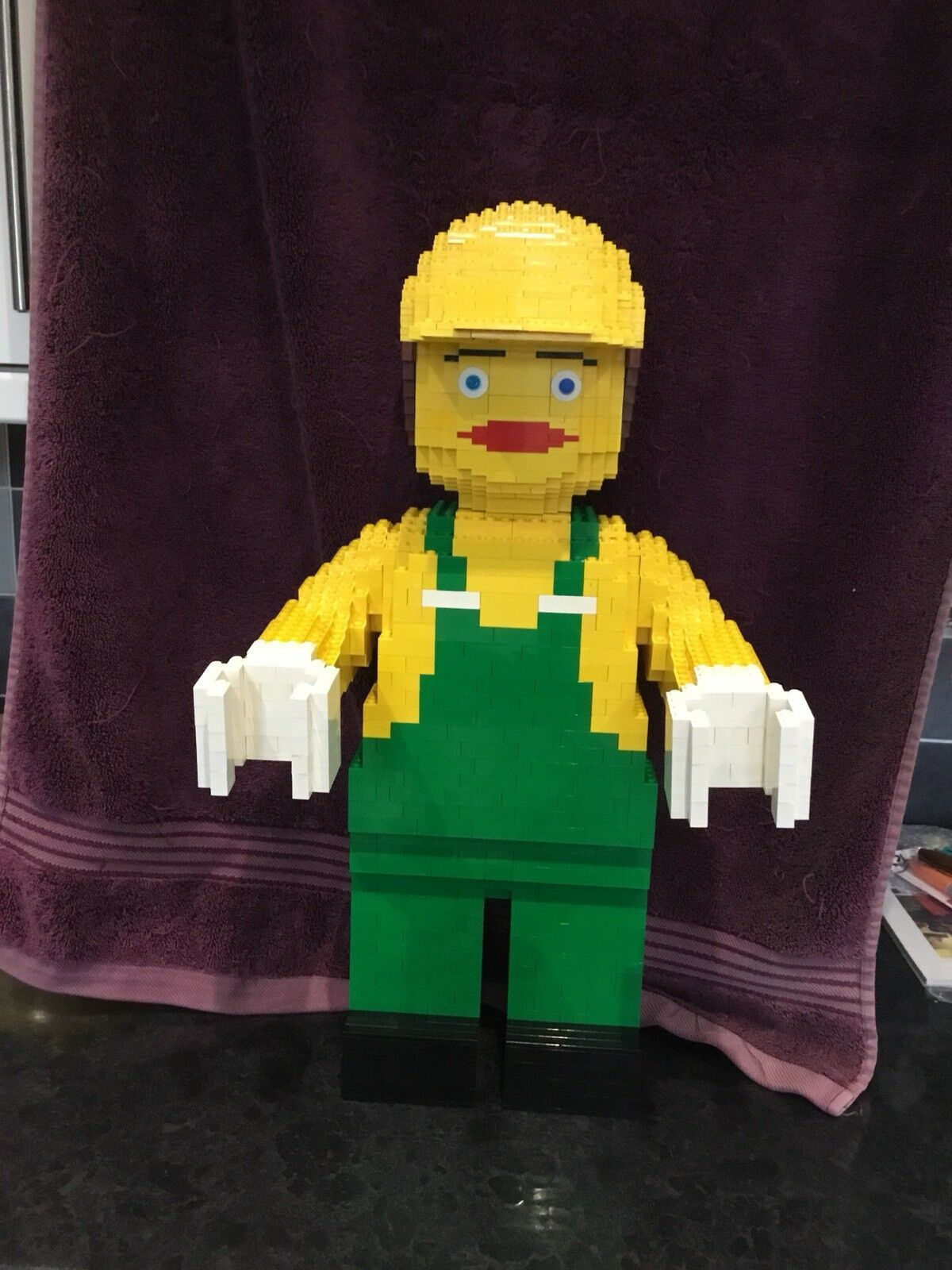 LegoGiant Minifigure Sculpture In Yellow And Green