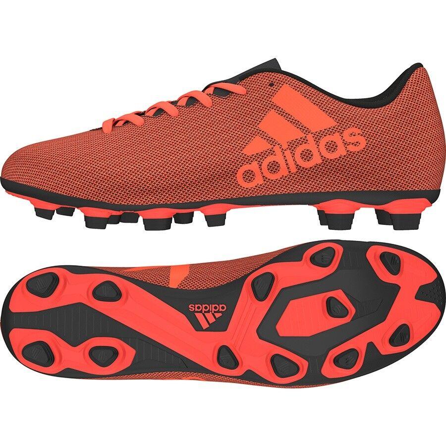 Adidas Men's X 17.4 FxG Soccer  Chaussures  S82400 Orange/Red/Noir Sz 8 - 13